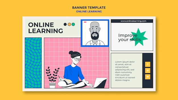 Banner online leren sjabloon