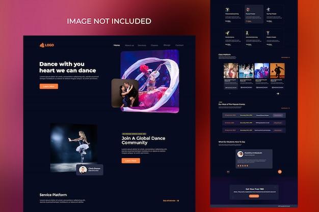 Banner de página de inicio del club de diseño corporativo y creativo