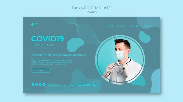 Banner per la prevenzione del coronavirus