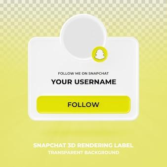 banner pictogram profiel op snapchat 3d-rendering banner geïsoleerd