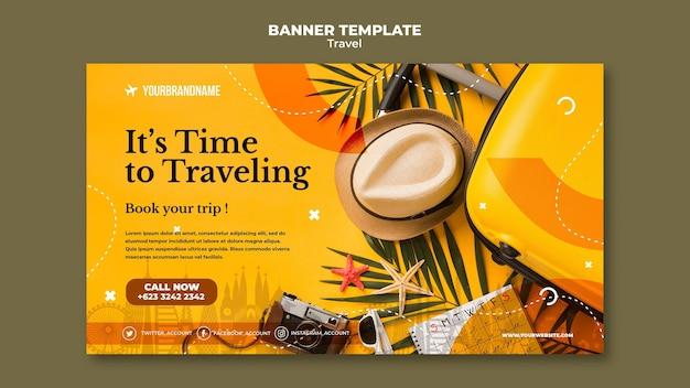 Banner de plantilla de agencia de viajes