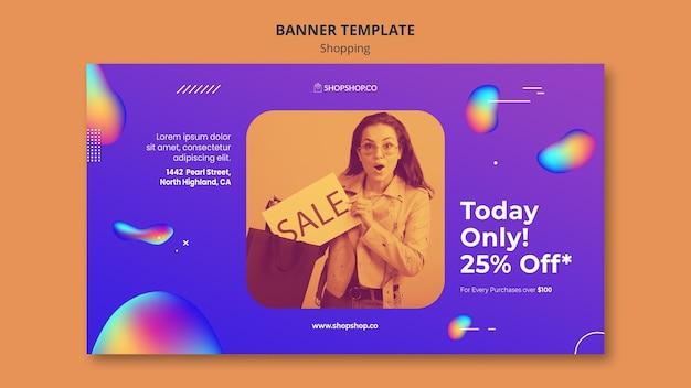 Banner de plantilla de anuncio de compras