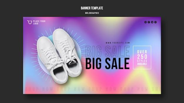 Banner de plantilla de anuncio de venta de zapatillas