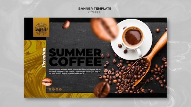 Banner de plantilla de cafetería