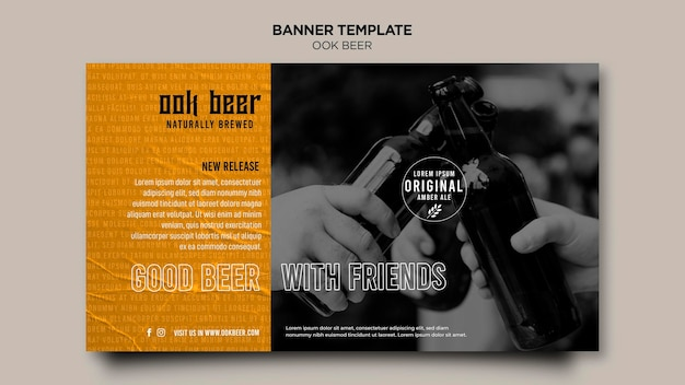 Banner de plantilla de cerveza ook