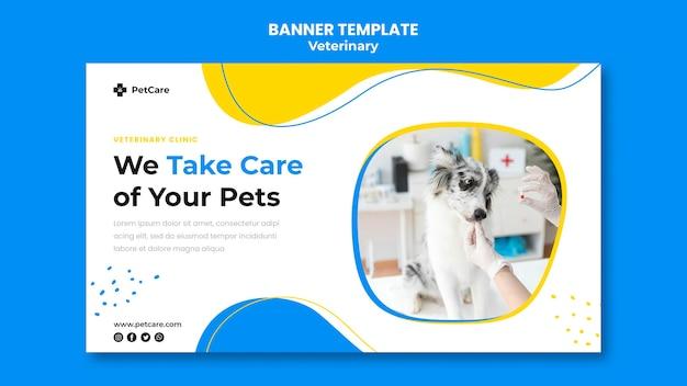 Banner de plantilla de clínica veterinaria