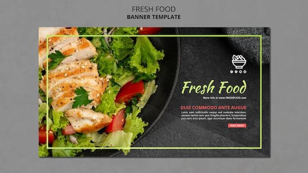 Banner de plantilla de comida fresca