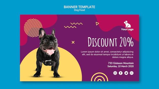 Banner de plantilla de comida para perros