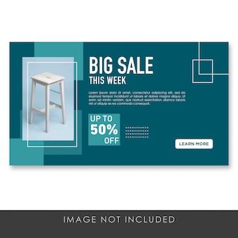 Banner plantilla de muebles de gran venta
