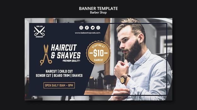 Banner de plantilla de peluquería