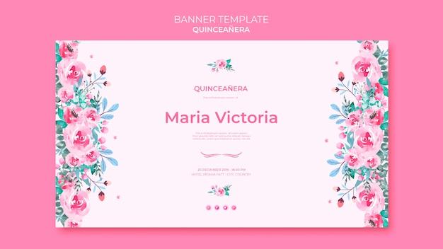 Banner plantilla quinceañera