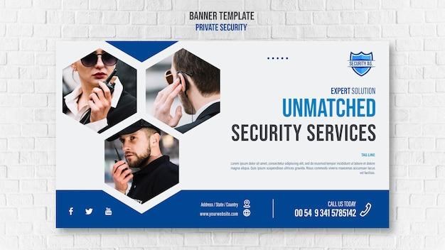 Banner de plantilla de servicios de seguridad
