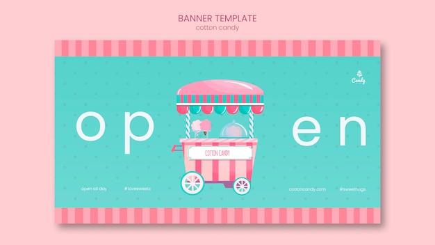 Banner de plantilla de tienda de dulces