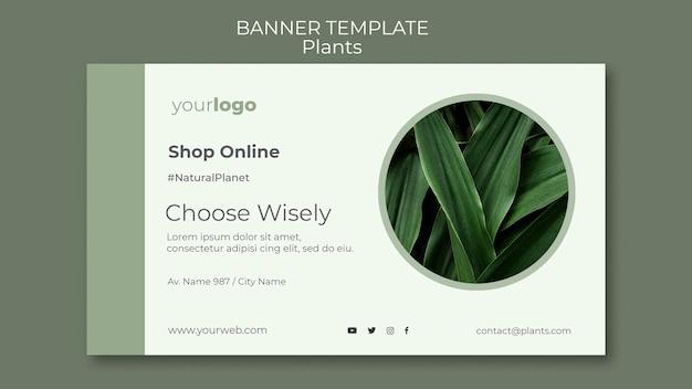 Banner de plantilla de tienda de plantas