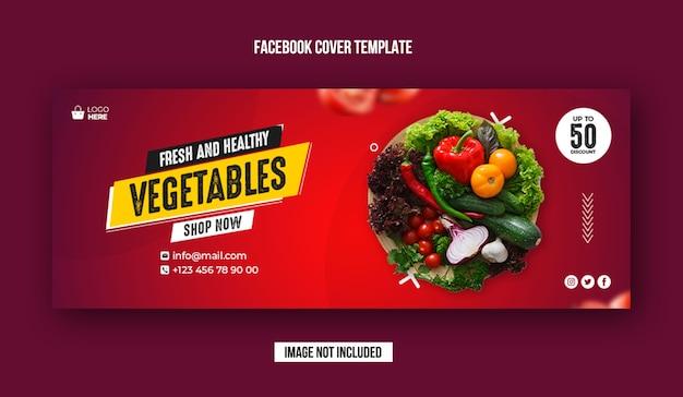 Banner de portada de facebook de verduras frescas