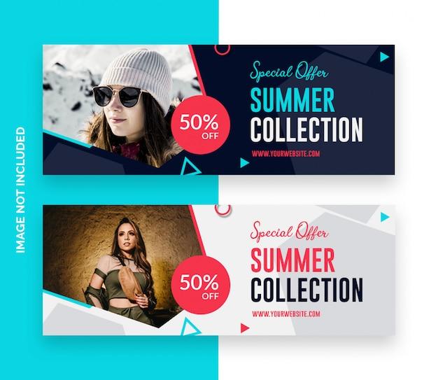 Banner de portada de línea de tiempo de venta de facebook