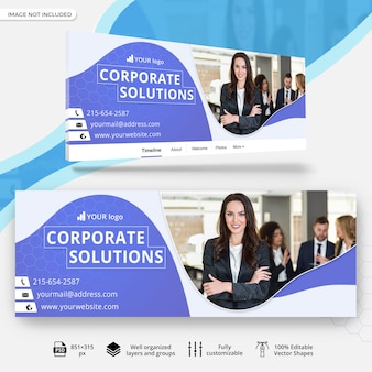 Banner de portada multipropósito facebook