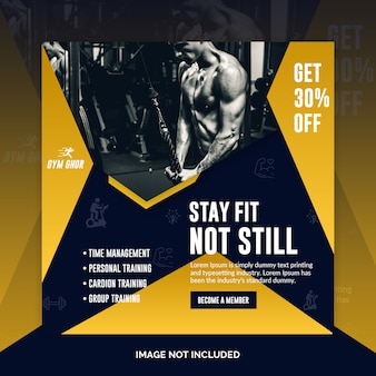 Banner post fitness social media