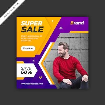 Banner de post venta de instagram moderno y dinámico en redes sociales