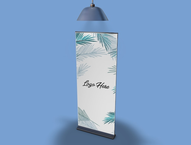 Banner poster stand mockup