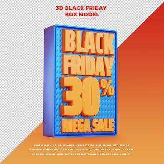 Banner de promoción de título de descuento de venta de viernes negro 3d