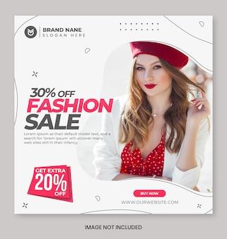 Banner de promoción de venta de moda