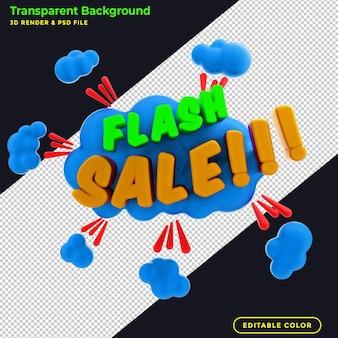 Banner promocional de venta flash.