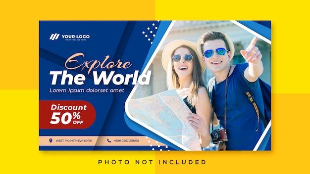 Banner promocional de viaje