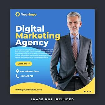 Banner de publicación de feed de instagram de medios sociales de marketing digital