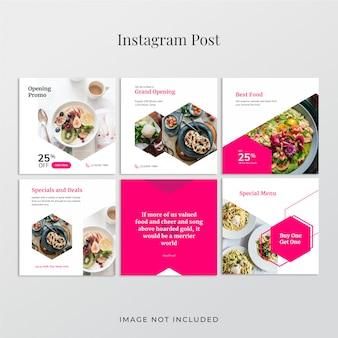 Banner de publicación de instagram de alimentos