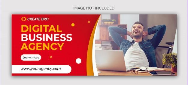 Banner de publicación de redes sociales de marketing empresarial