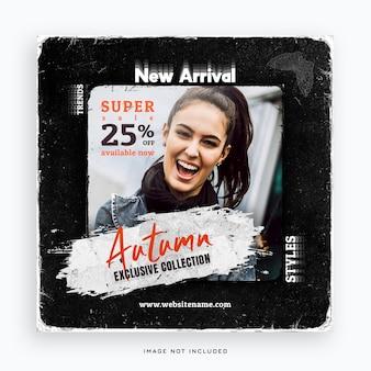 Banner de publicación de redes sociales de moda de nueva llegada
