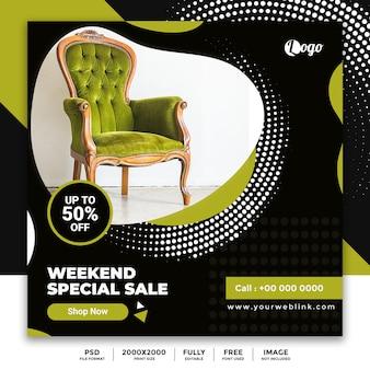 Banner de publicación de venta de medios sociales de muebles