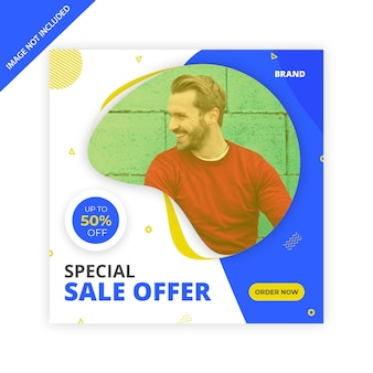 Banner quadrato di vendita o design post instagram