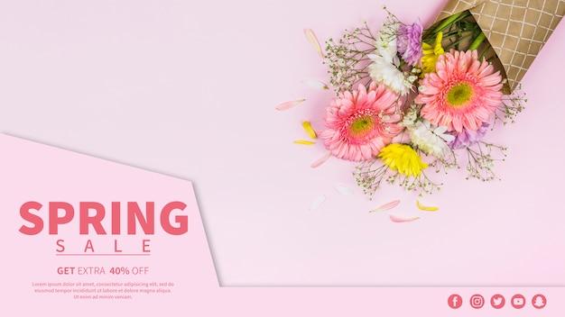 Banner de rebajas de primavera