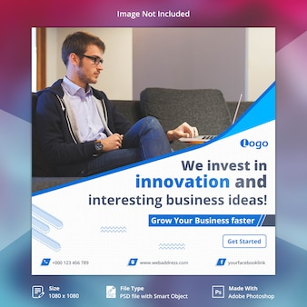 Banner de redes sociales de negocios