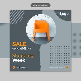 Banner de redes sociales para plantilla de muebles