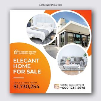 Banner de redes sociales de venta de bienes raíces