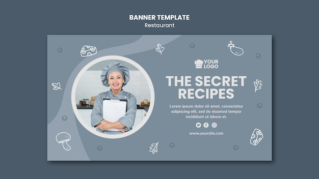 Banner restaurant advertentiesjabloon Gratis Psd