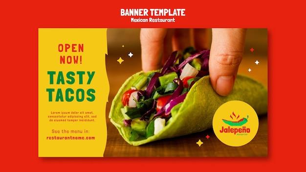 Banner de restaurante mexicano