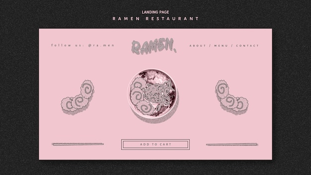 Banner ristorante ramen noodle