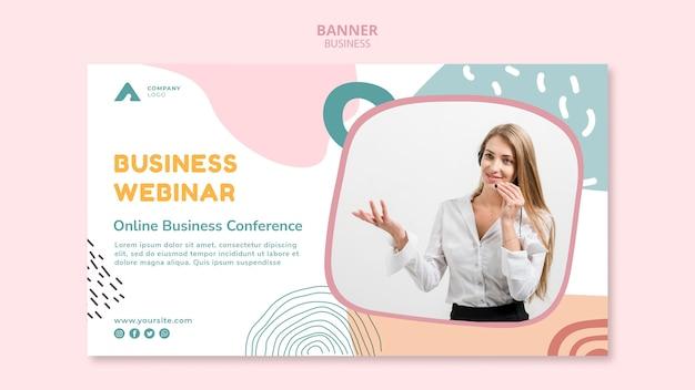Banner de seminario web empresarial