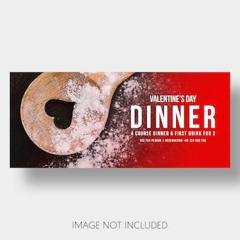 Banner sjabloon restaurant valentijnsdag