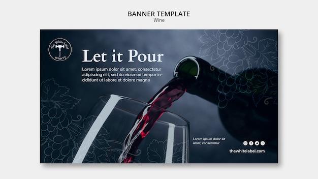 Banner sjabloon wijnwinkel