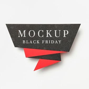 Banner sobre fondo blanco maqueta de ventas de viernes negro