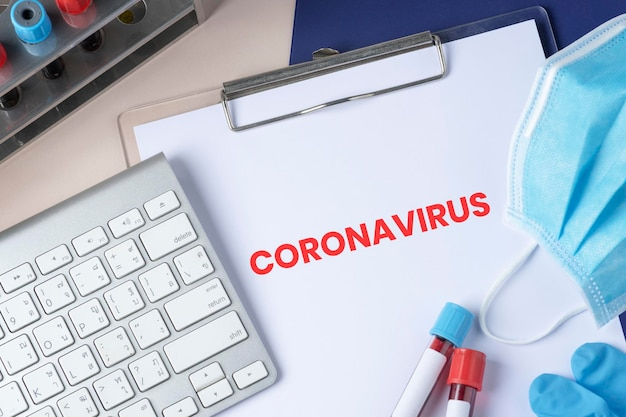 Banner social de pandemia de coronavirus