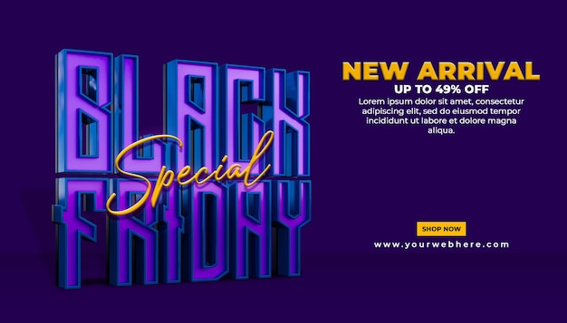 Banner speciale aanbieding black friday social media postsjabloon