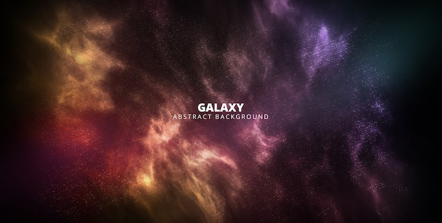 Banner sterrenstelsel abstracte achtergrond