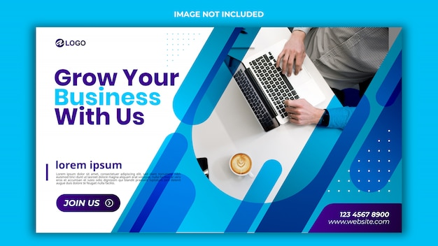 Banner template design psd