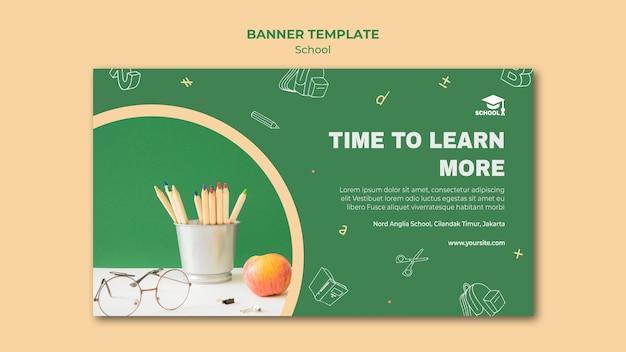 Banner terug naar school-sjabloon